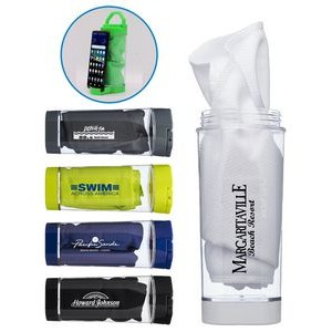Cooling Towel In Phone Stand Carabiner Case
