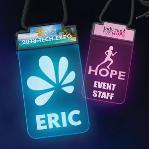 Deluxe Lighted Badge� - 2 Imprint Locations
